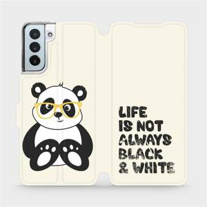 Flipové pouzdro Mobiwear na mobil Samsung Galaxy S21 Plus 5G - M041S Panda - life is not always black and white