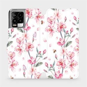 Flip pouzdro Mobiwear na mobil Realme 8 - M124S Růžové květy