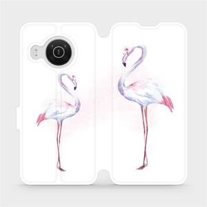 Flip pouzdro Mobiwear na mobil Nokia X20 - M005S Plameňáci