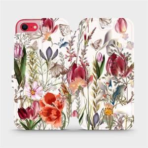 Flip pouzdro Mobiwear na mobil Apple iPhone SE 2020 - MP01S Rozkvetlá louka