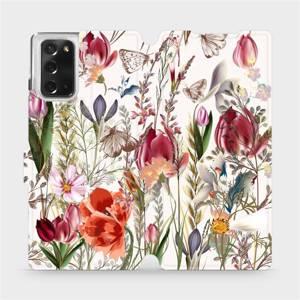 Flip pouzdro Mobiwear na mobil Samsung Galaxy Note 20 - MP01S Rozkvetlá louka