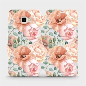 Flip pouzdro Mobiwear na mobil Samsung Galaxy J4 Plus 2018 - MP02S Pastelové květy