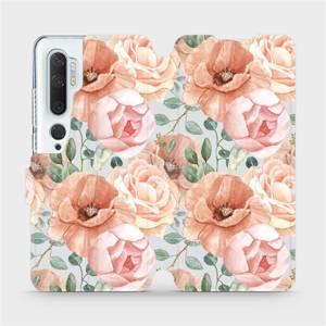 Flip pouzdro Mobiwear na mobil Xiaomi Mi Note 10 - MP02S Pastelové květy