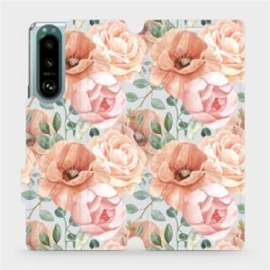 Flip pouzdro Mobiwear na mobil Sony Xperia 5 III - MP02S Pastelové květy