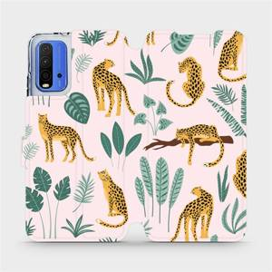 Flip pouzdro Mobiwear na mobil Xiaomi Redmi 9T - MP07S Leopardi
