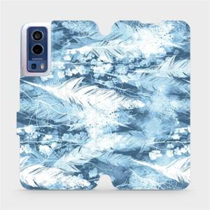 Flip pouzdro Mobiwear na mobil Vivo Y72 5G / Vivo Y52 5G - M058S Světle modrá horizontální pírka