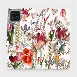 Flip pouzdro Mobiwear na mobil Samsung Galaxy A22 4G - MP01S Rozkvetlá louka