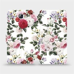 Flipové pouzdro Mobiwear na mobil Huawei Y5 II - MD01S Růže na bílé