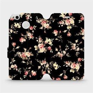 Flipové pouzdro Mobiwear na mobil Xiaomi Redmi 4X - VD02S Květy na černé