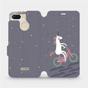 Flipové pouzdro Mobiwear na mobil Xiaomi Redmi 6 - V024P Jednorožec na kole