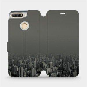 Flipové pouzdro Mobiwear na mobil Honor 7A - V063P Město v šedém hávu