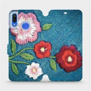 Flipové pouzdro Mobiwear na mobil Huawei Nova 3 - MD05P Džínové květy
