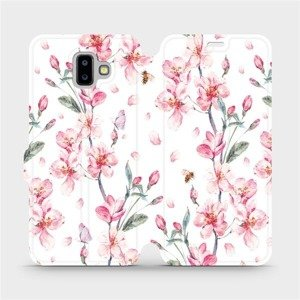Flipové pouzdro Mobiwear na mobil Samsung Galaxy J6 Plus 2018 - M124S Růžové květy
