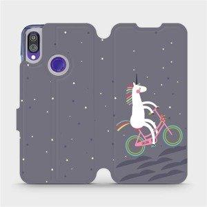 Flipové pouzdro Mobiwear na mobil Xiaomi Redmi Note 7 - V024P Jednorožec na kole