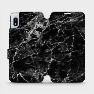 Flipové pouzdro Mobiwear na mobil Samsung Galaxy A10 - V056P Černý mramor