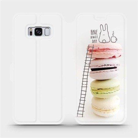 Flipové pouzdro Mobiwear na mobil Samsung Galaxy S8 - M090P Makronky - have a nice day
