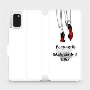 Flipové pouzdro Mobiwear na mobil Samsung Galaxy A41 - M046P Be yourself