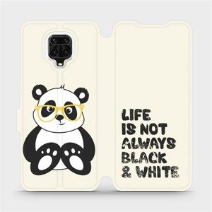 Flipové pouzdro Mobiwear na mobil Xiaomi Redmi Note 9 Pro - M041S Panda - life is not always black and white
