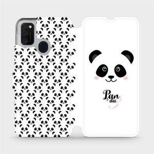 Flipové pouzdro Mobiwear na mobil Samsung Galaxy M21 - M030P Panda Amálka