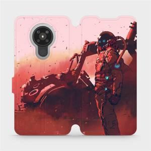 Flipové pouzdro Mobiwear na mobil Nokia 5.3 - MA09S Průzkumník s červeným vozítkem