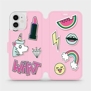 Flipové pouzdro Mobiwear na mobil Apple iPhone 12 - M129S Růžové WHAT