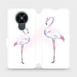 Flipové pouzdro Mobiwear na mobil Nokia 3.4 - M005S Plameňáci