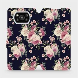 Flipové pouzdro Mobiwear na mobil Xiaomi Poco X3 Pro - V068P Růžičky