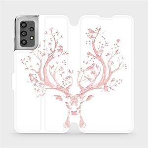 Flip pouzdro Mobiwear na mobil Samsung Galaxy A32 LTE - M007S Růžový jelínek