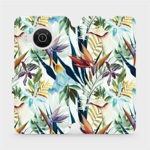 Flip pouzdro Mobiwear na mobil Nokia X20 - M071P Flóra