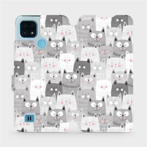 Flip pouzdro Mobiwear na mobil Realme C21 - M099P Kočičky