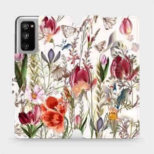 Flip pouzdro Mobiwear na mobil Samsung Galaxy S20 FE - MP01S Rozkvetlá louka