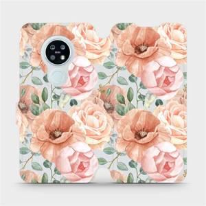 Flip pouzdro Mobiwear na mobil Nokia 6.2 - MP02S Pastelové květy