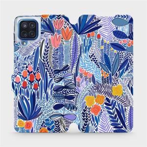 Flip pouzdro Mobiwear na mobil Samsung Galaxy M12 - MP03P Modrá květena