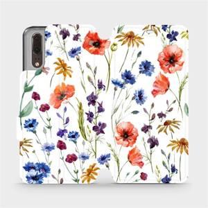 Flip pouzdro Mobiwear na mobil Huawei P20 - MP04S Luční kvítí