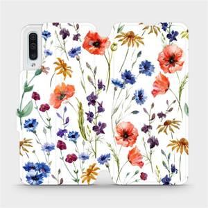 Flip pouzdro Mobiwear na mobil Samsung Galaxy A50 - MP04S Luční kvítí