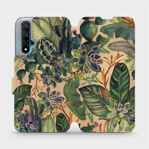 Flip pouzdro Mobiwear na mobil Huawei Nova 5T - VP05S Sukulenty