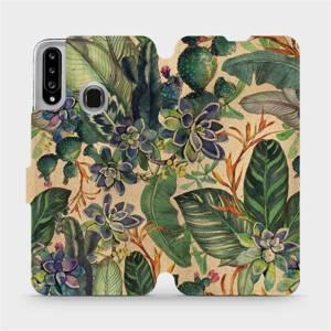 Flip pouzdro Mobiwear na mobil Samsung Galaxy A20S - VP05S Sukulenty