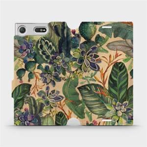 Flip pouzdro Mobiwear na mobil Sony Xperia XZ1 Compact - VP05S Sukulenty