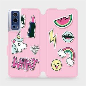 Flip pouzdro Mobiwear na mobil Vivo Y72 5G / Vivo Y52 5G - M129S Růžové WHAT