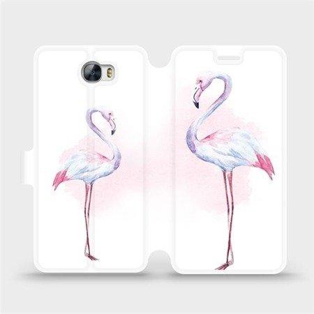 Flipové pouzdro Mobiwear na mobil Huawei Y5 II - M005S Plameňáci