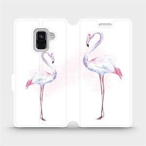 Flipové pouzdro Mobiwear na mobil Samsung Galaxy A8 2018 - M005S Plameňáci