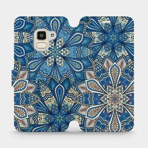 Flipové pouzdro Mobiwear na mobil Samsung Galaxy J6 2018 - V108P Modré mandala květy