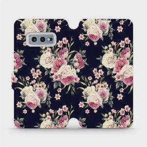 Flipové pouzdro Mobiwear na mobil Samsung Galaxy S10e - V068P Růžičky