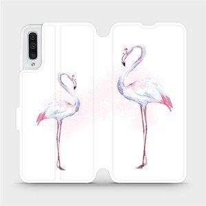 Flipové pouzdro Mobiwear na mobil Samsung Galaxy A50 - M005S Plameňáci