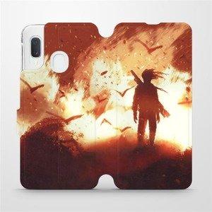 Flipové pouzdro Mobiwear na mobil Samsung Galaxy A20e - MA06S Postava v ohni