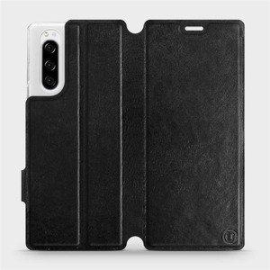 Flipové pouzdro Mobiwear na mobil Sony Xperia 5 v provedení C_BLS Black&Gray s šedým vnitřkem