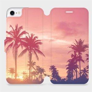 Flipové pouzdro Mobiwear na mobil Apple iPhone SE 2020 - M134P Palmy a růžová obloha