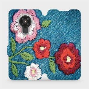 Flipové pouzdro Mobiwear na mobil Nokia 5.3 - MD05P Džínové květy