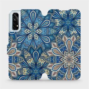 Flipové pouzdro Mobiwear na mobil Realme 7 - V108P Modré mandala květy