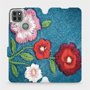 Flipové pouzdro Mobiwear na mobil Motorola Moto G9 Power - MD05P Džínové květy